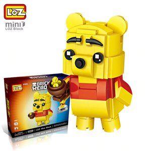 Winnie the Pooh Loz Brick Headz Building Blocks